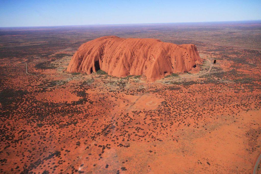 Uluru Luftaufnahme