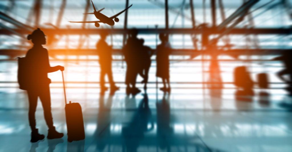 Flughafen Silhouette