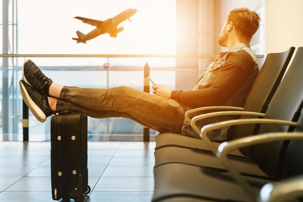 Passagier am Flughafen