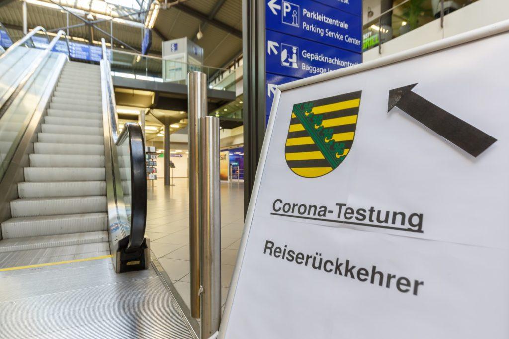 Corona Test am Flughafen